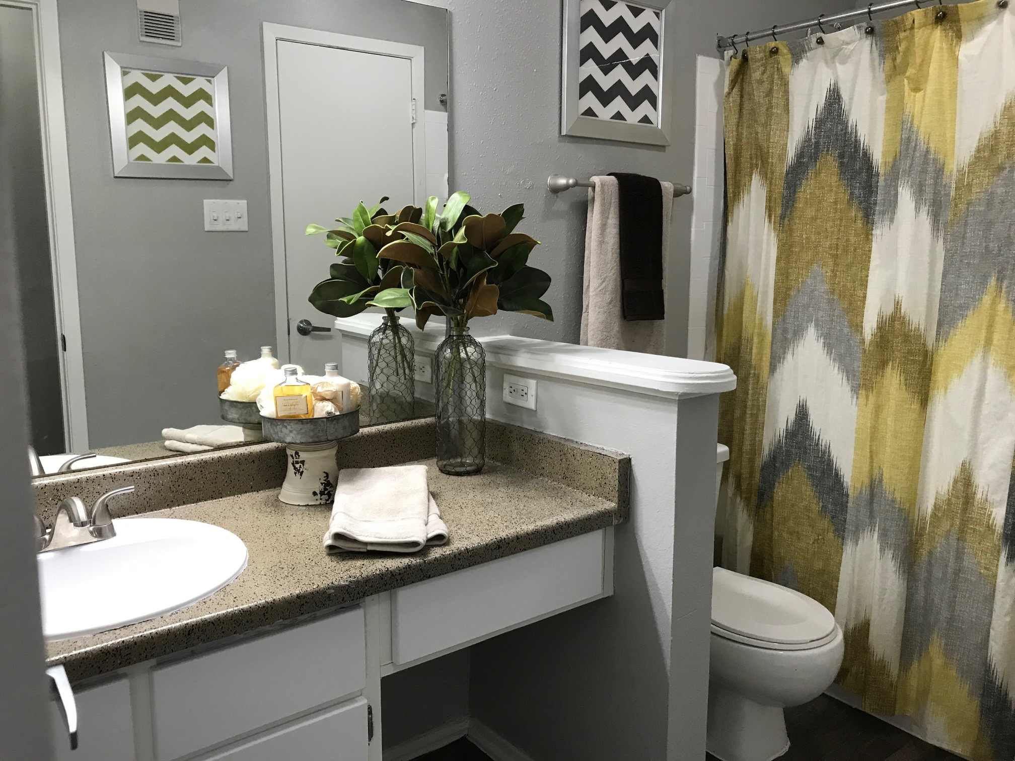 Bathroom at Stonehill at Pipers Creek Apartments in San Antonio, Texas