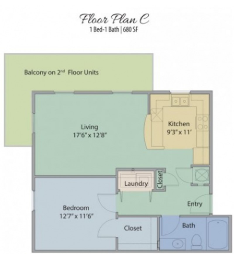 Waterview at Sugar Mill Pond - Floorplan - C
