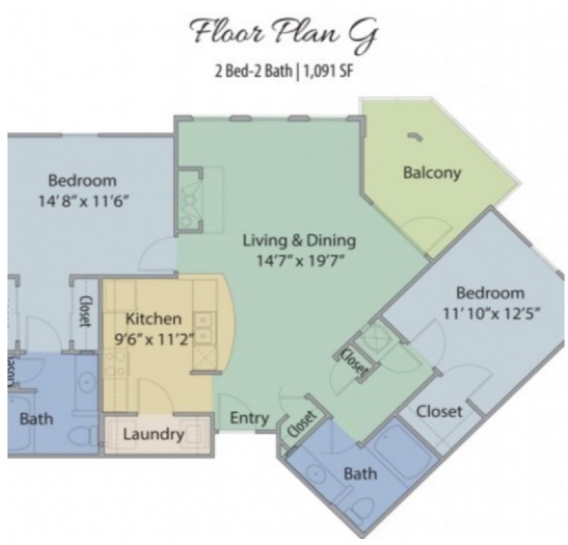 Waterview at Sugar Mill Pond - Floorplan - G