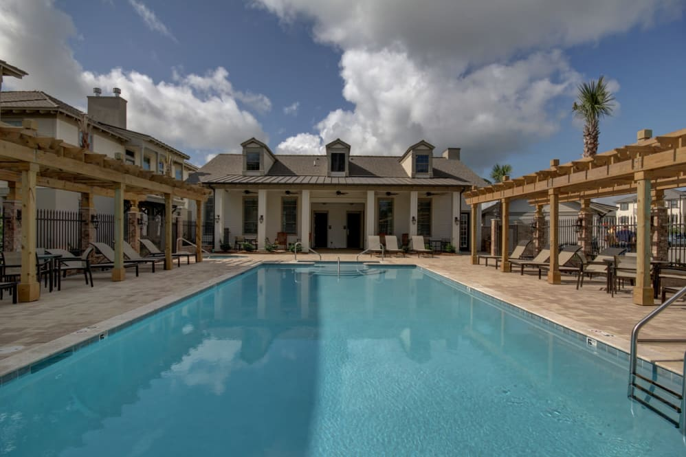 Resort-Style Pool at Waterview Apartments in Youngsville, Louisiana