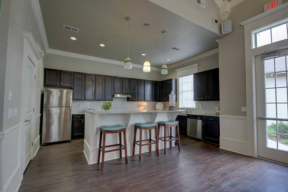 Fully Equipped Kitchen at Waterview Apartments in Youngsville, Louisiana