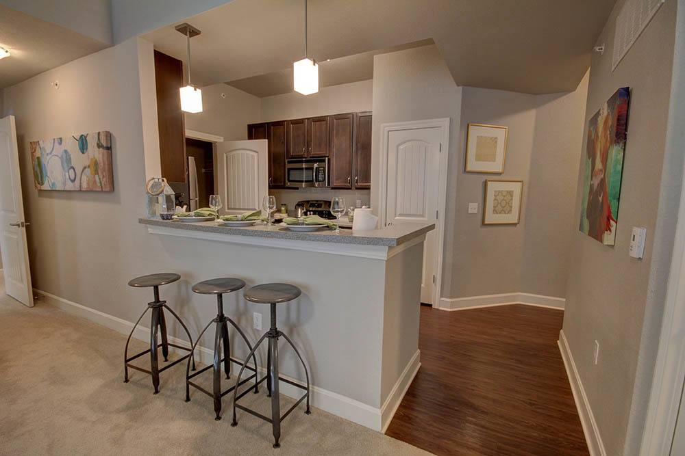 Breakfast Bar at Waterview Apartments in Youngsville, Louisiana