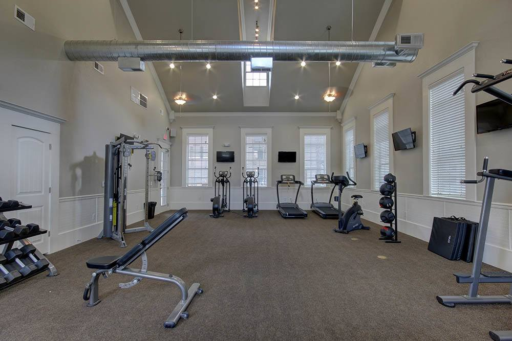 Fitness Center at Waterview Apartments in Youngsville, Louisiana