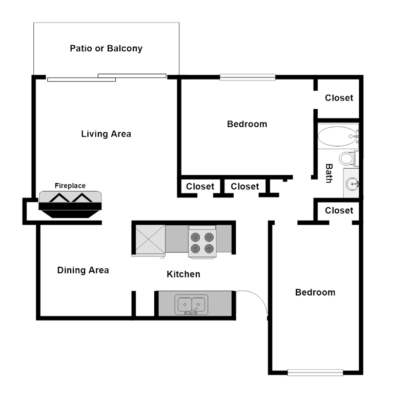 Summer Glen Apartments - Floorplan - B1