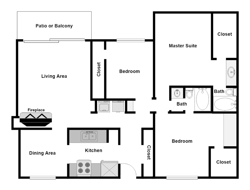 Summer Glen Apartments - Floorplan - C1