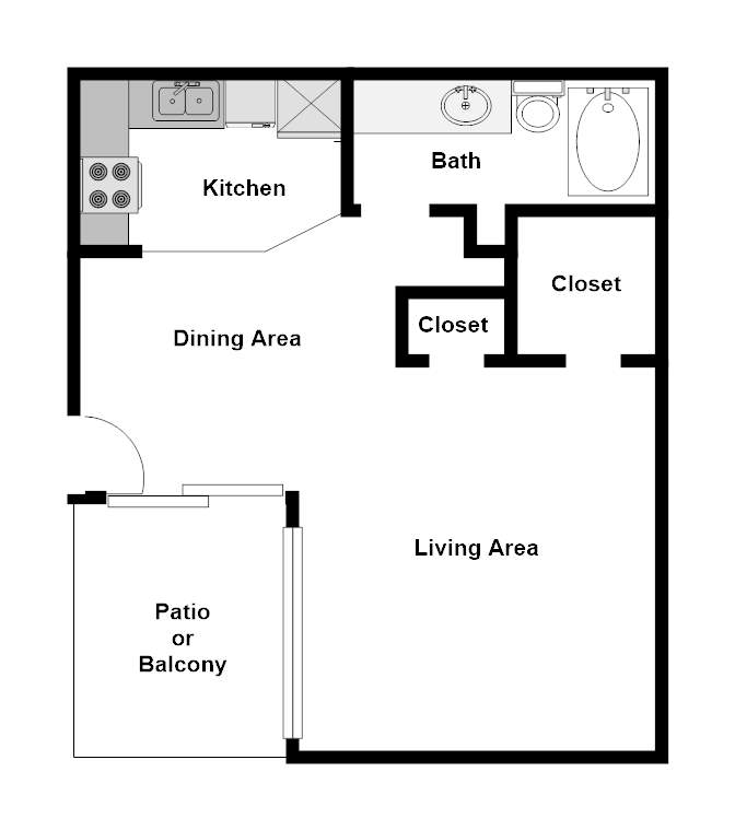 Summer Glen Apartments - Floorplan - E1