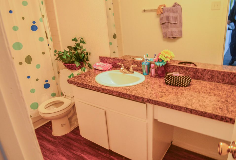 Bathroom Vanity at Summer Glen Apartments in Dallas, Texas