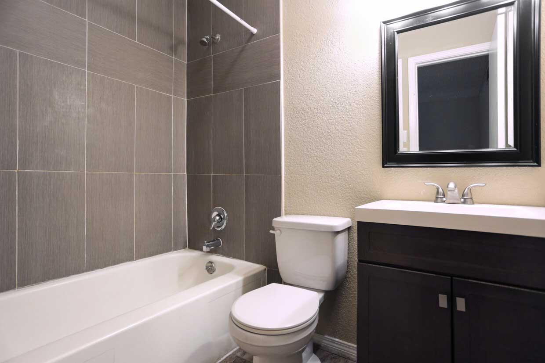 Tile in Bathroom at Sungate Apartments in San Antonio, Texas