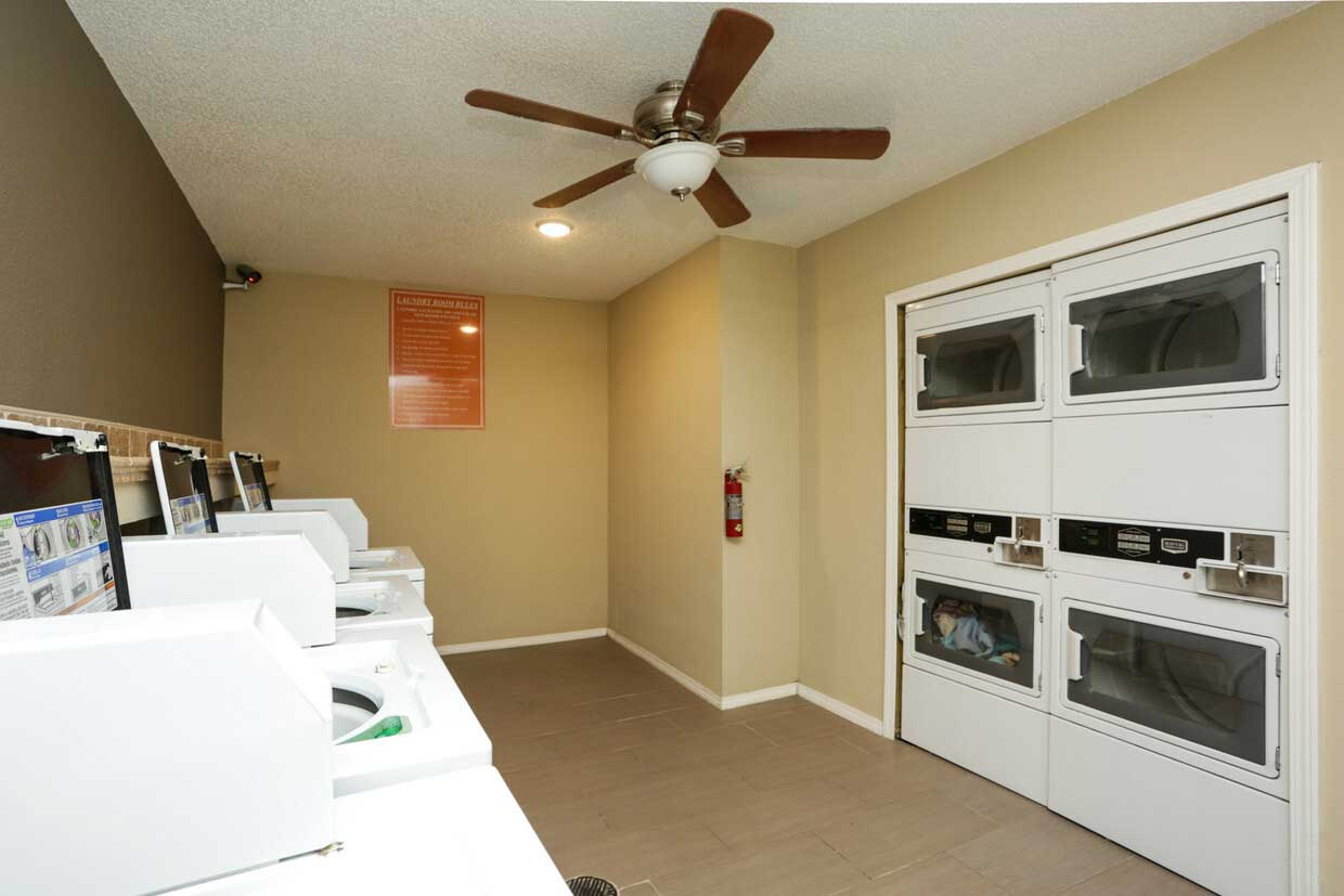 On-Site Laundry at Sungate Apartments in San Antonio, Texas
