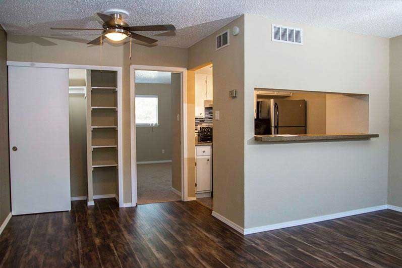 Built-In Storage at Sungate Apartments in San Antonio, Texas