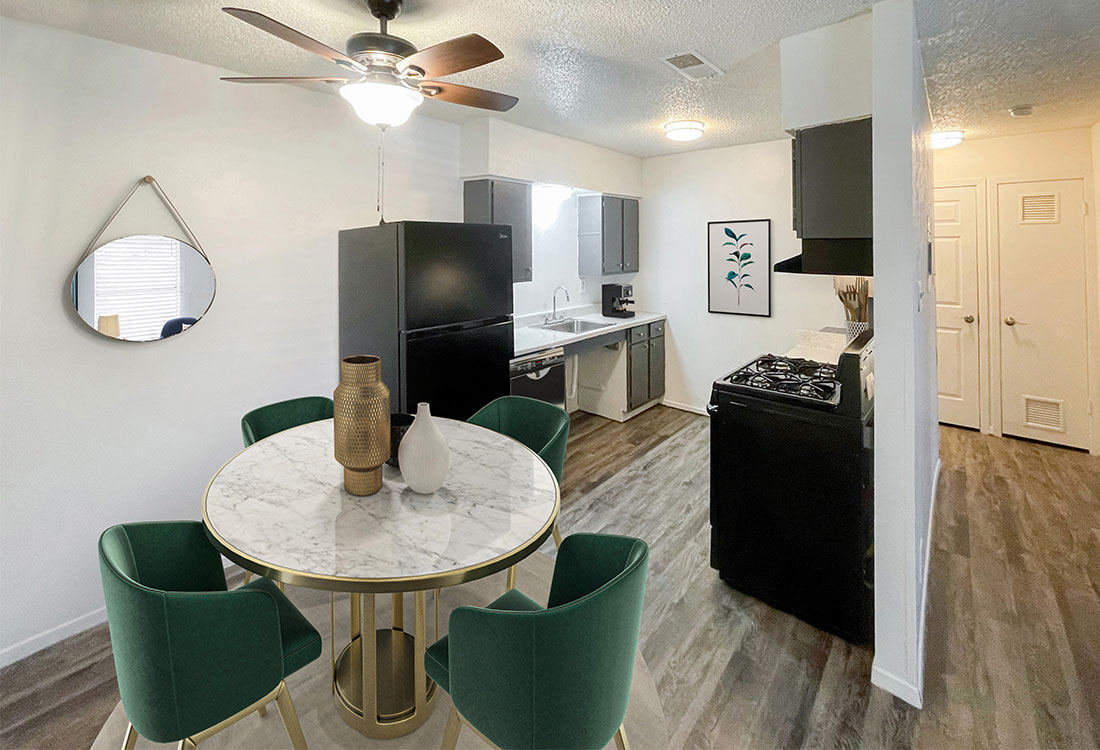 Wood-look Flooring at Sunscape Apartments in Abilene, TX
