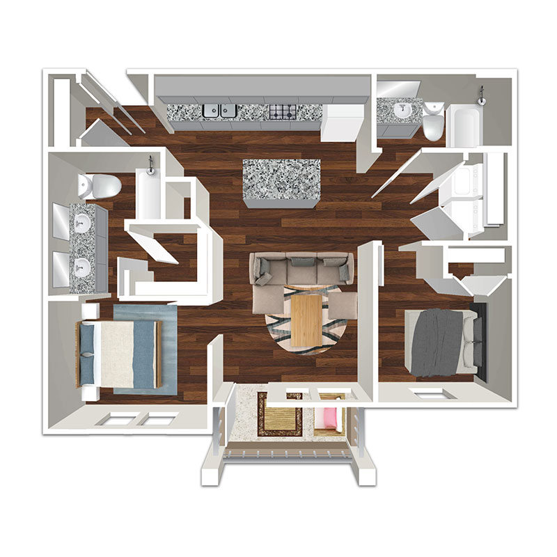 Floorplan - 2 Bed image