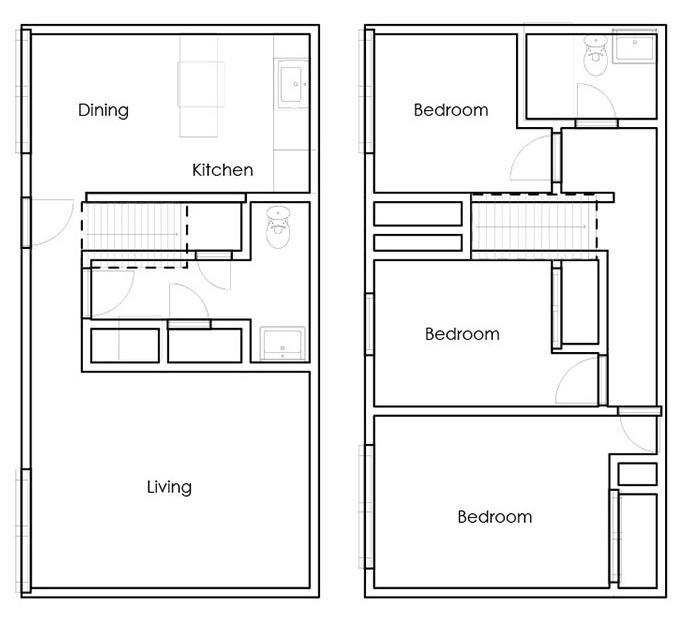 Sunset Ridge Apartment Homes - Floorplan - 3BR