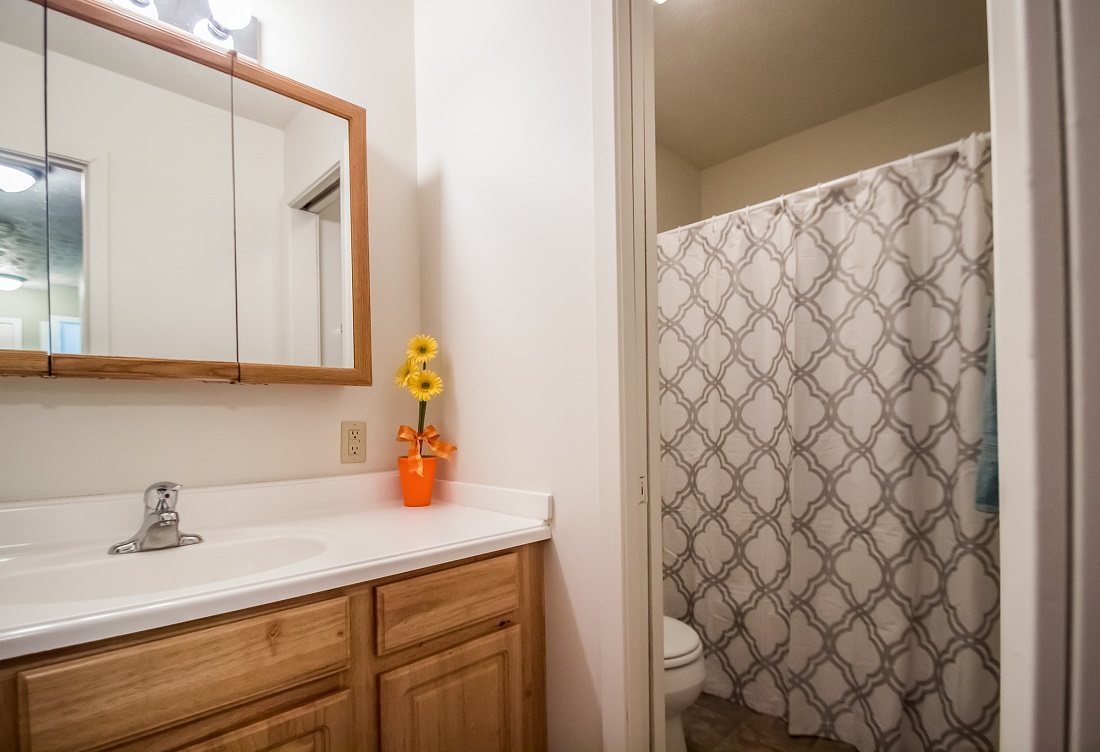 Upgraded Bathrooms at Sunset Ridge Apartments in Omaha, NE