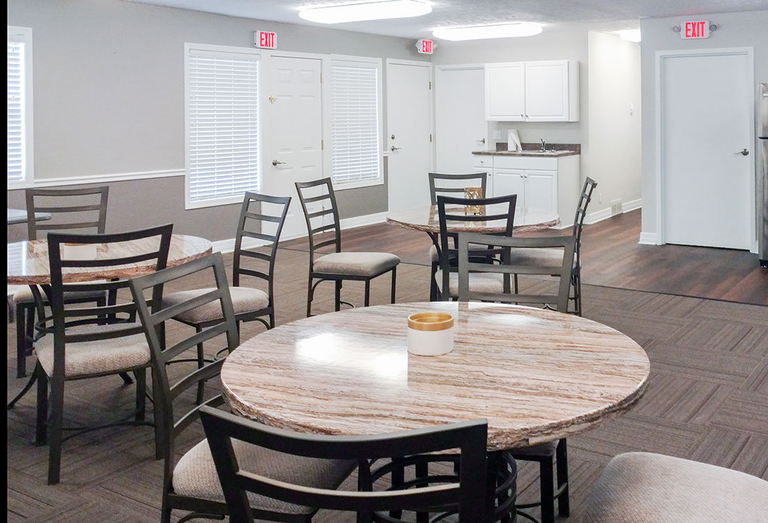 Community Clubhouse at Sunset Ridge Apartments in Omaha, NE
