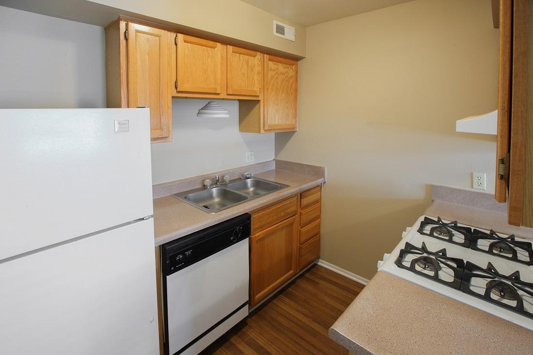 Kitchen Counterspace at Sunset Ridge Apartments in Omaha, NE