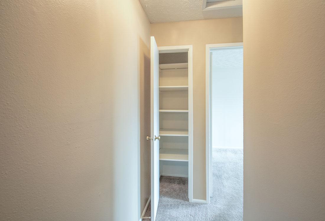 Linen Closets at Sunset Ridge Apartments in Omaha, NE