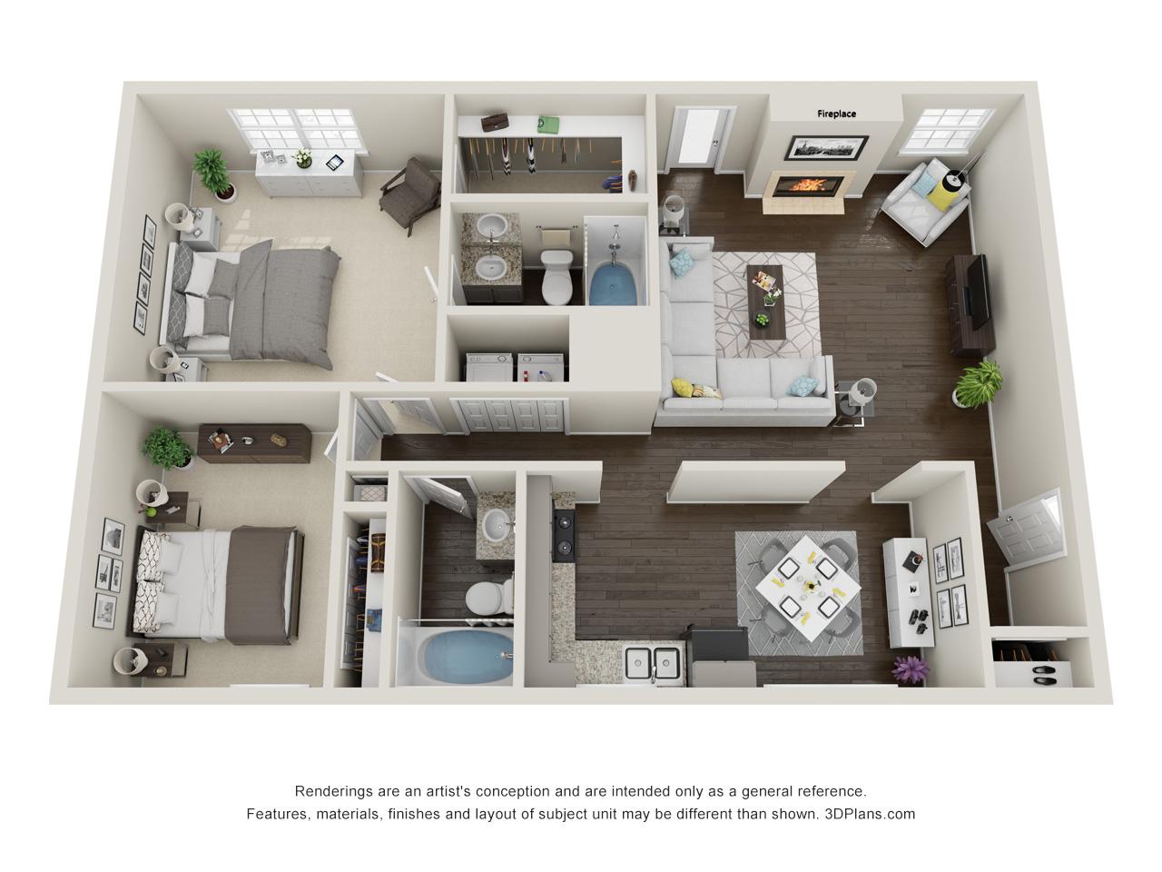 Floorplan - Valley Oak Villa image