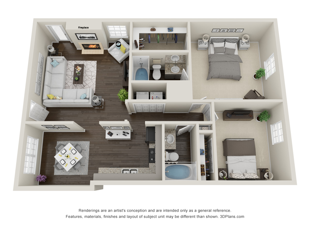 Floorplan - Canyon Oak Apartment image