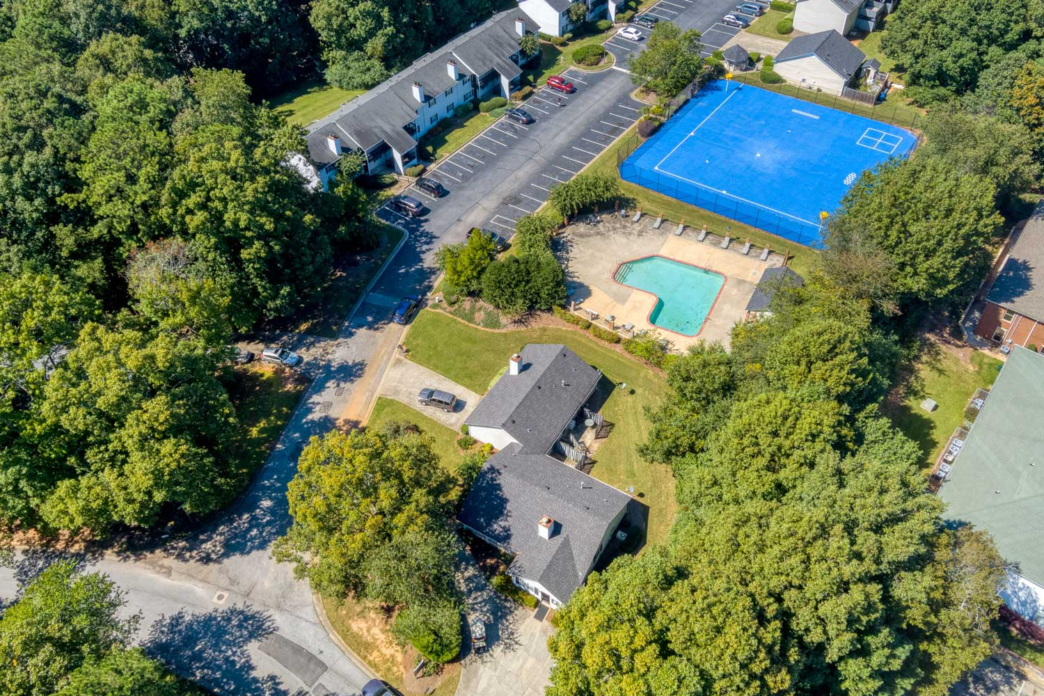 Aerial View at Tall Oaks Apartments and Villas in Conyers, GA