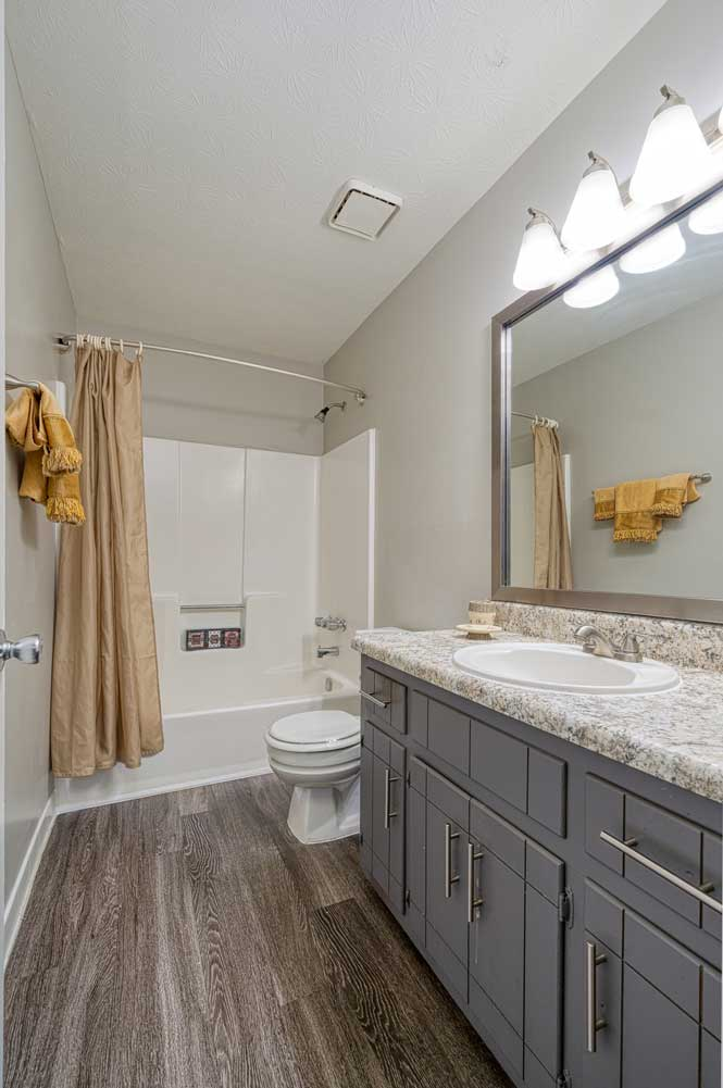Small Bathroom Vanity at Tall Oaks Apartments and Villas in Conyers, GA
