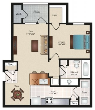 Oxford at Tech Ridge Apartments - Floorplan - Windsor