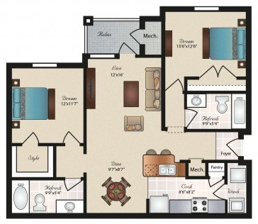 Floorplan - Travis image