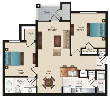 Oxford at Tech Ridge  - Floorplan - Brentwood