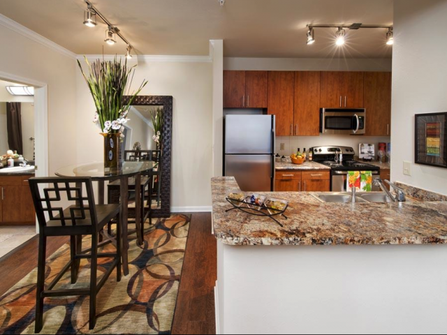 Modern Kitchen at The Oxford at Tech Ridge Apartments in Austin, TX