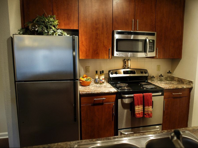 Stainless Appliances at The Oxford at Tech Ridge Apartments in Austin, TX