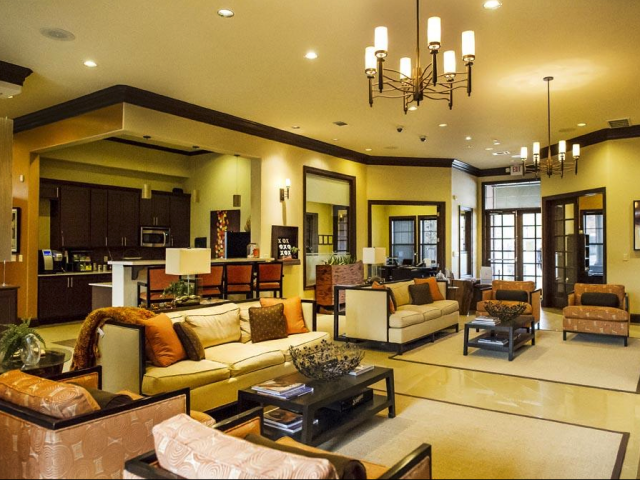 Upscale Lounge at The Oxford at Tech Ridge Apartments in Austin, TX