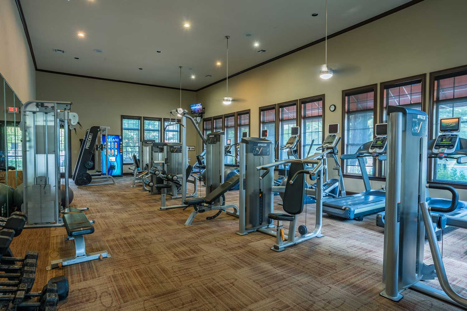 24-Hour Fitness Center at Tech Ridge Apartments in Austin, TX