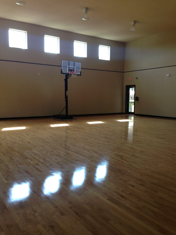 Enclosed Basketball Court at The Oxford at Tech Ridge Apartments in Austin, TX