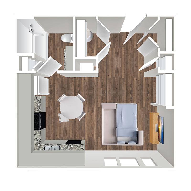 Floorplan - Studio Affordable image