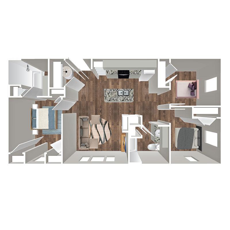 Floorplan - 3 Bedroom Affordable image