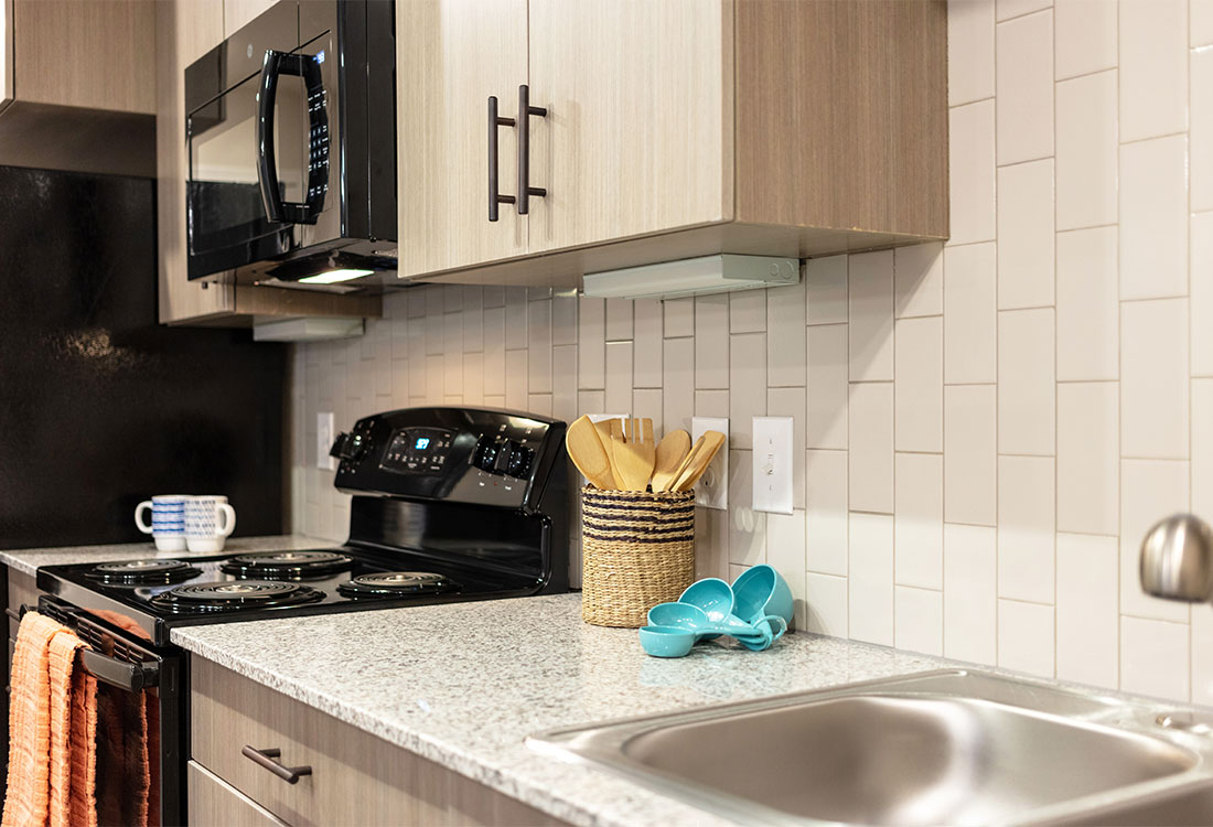 All Black Appliances at The Abali Apartments in Austin, Texas