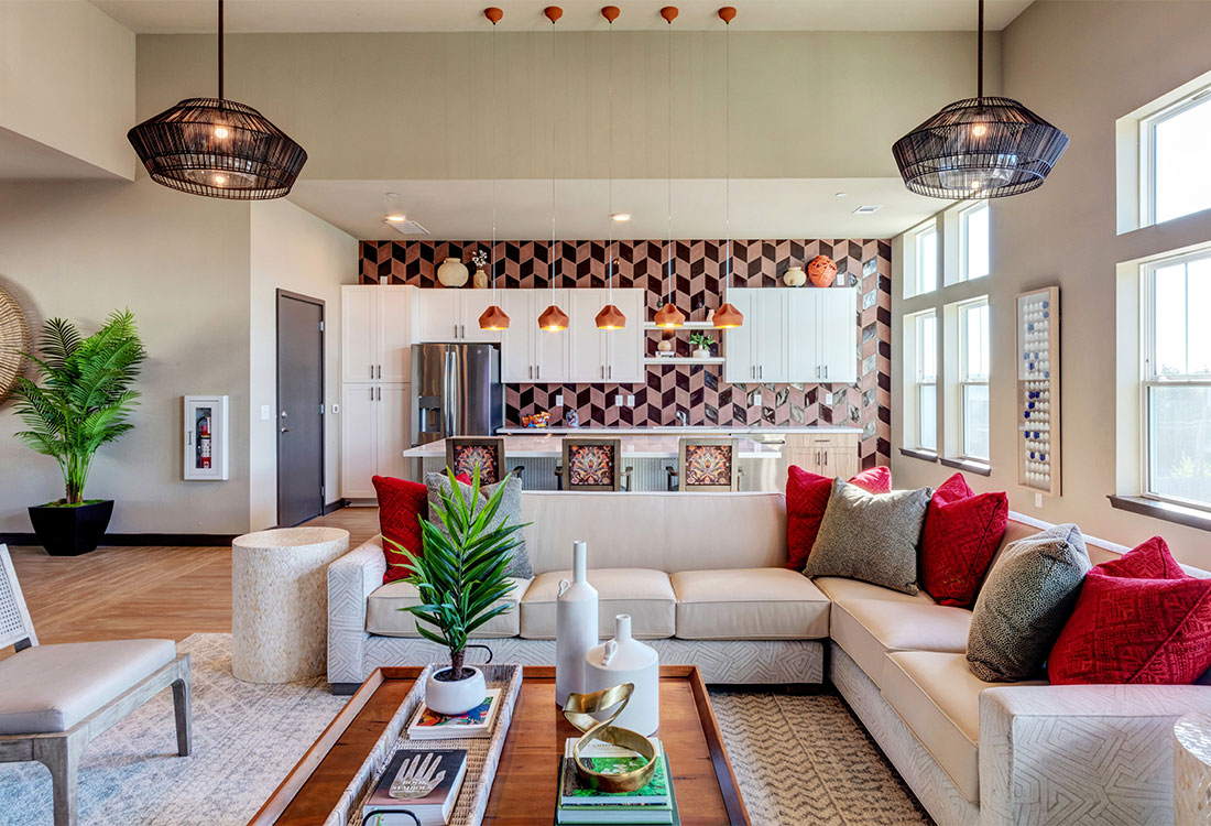 Fully Furnished Resident Clubhouse at The Abali Apartments in Austin, Texas