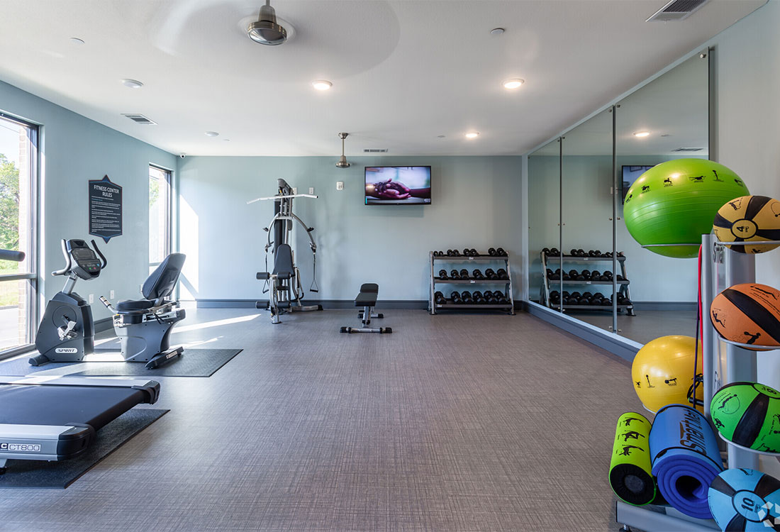Fully-Equipped Fitness Center at The Abali Apartments in Austin, Texas