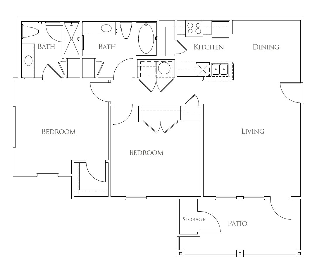The Azure Apartment Homes - Floorplan - The Brazos