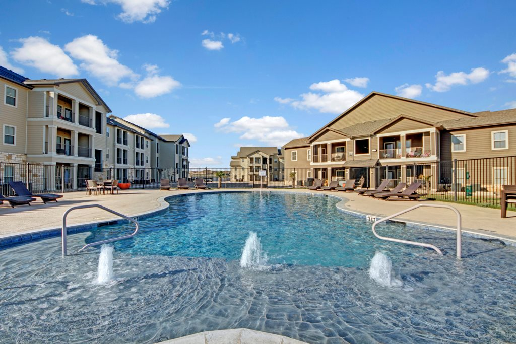 Resort-Style Pool at The Azure Apartment Homes in Midland, Texas