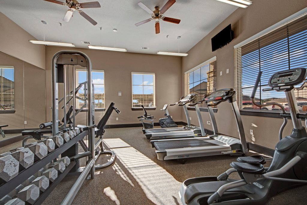 Fitness Center at The Azure Apartment Homes in Midland, Texas