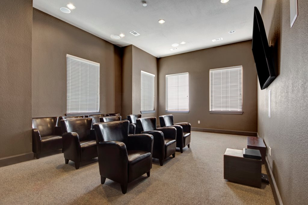 Community TV Room at The Azure Apartment Homes in Midland, Texas