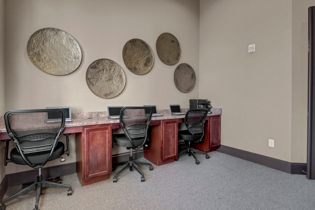 Business Center at The Azure Apartment Homes in Midland, Texas