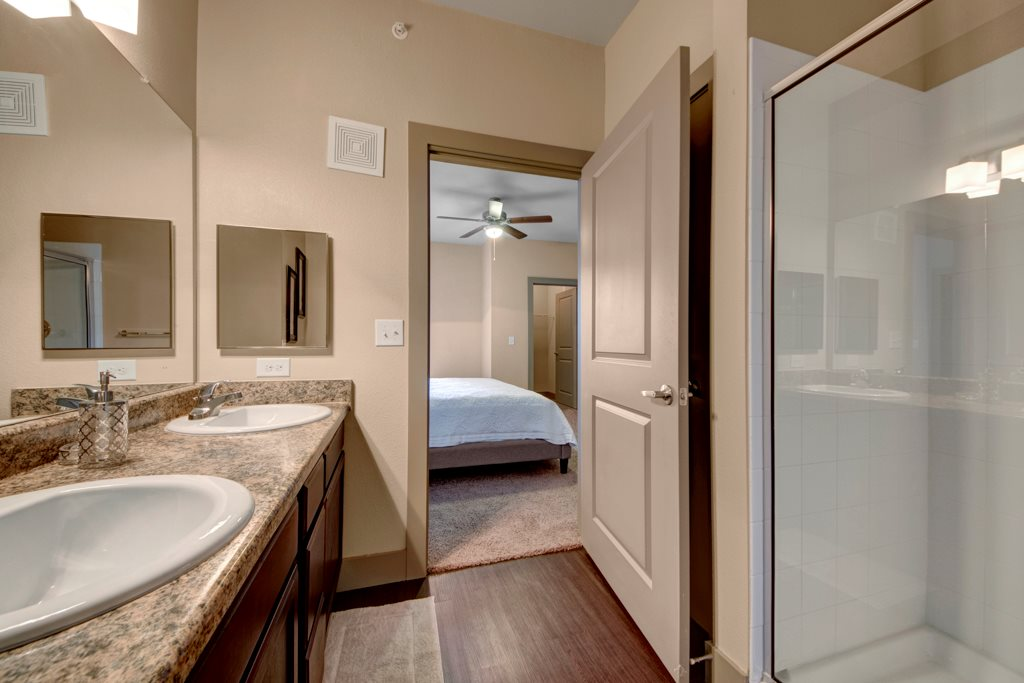 Spacious Bathroom at The Azure Apartment Homes in Midland, Texas