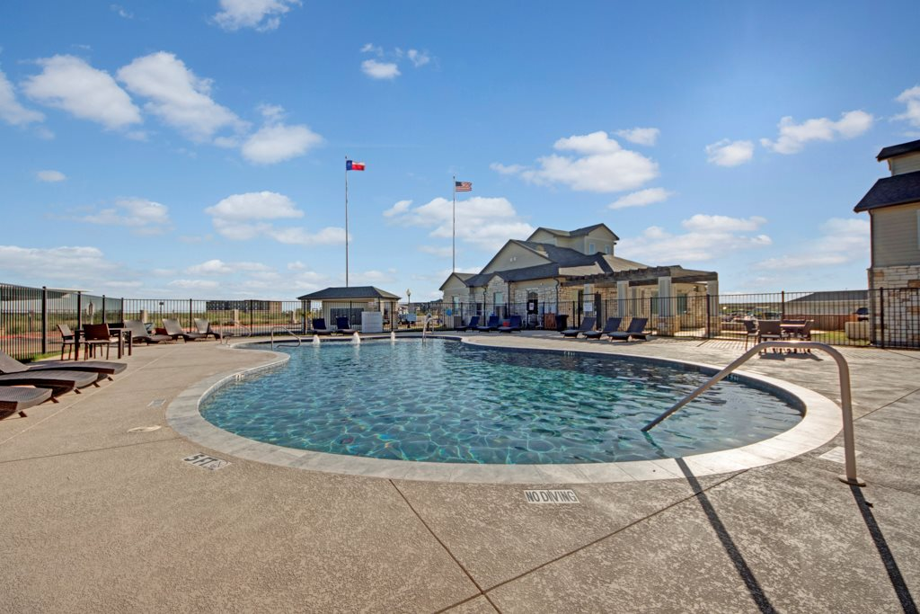 Sparkling Swimming Pool at The Azure Apartment Homes in Midland, Texas