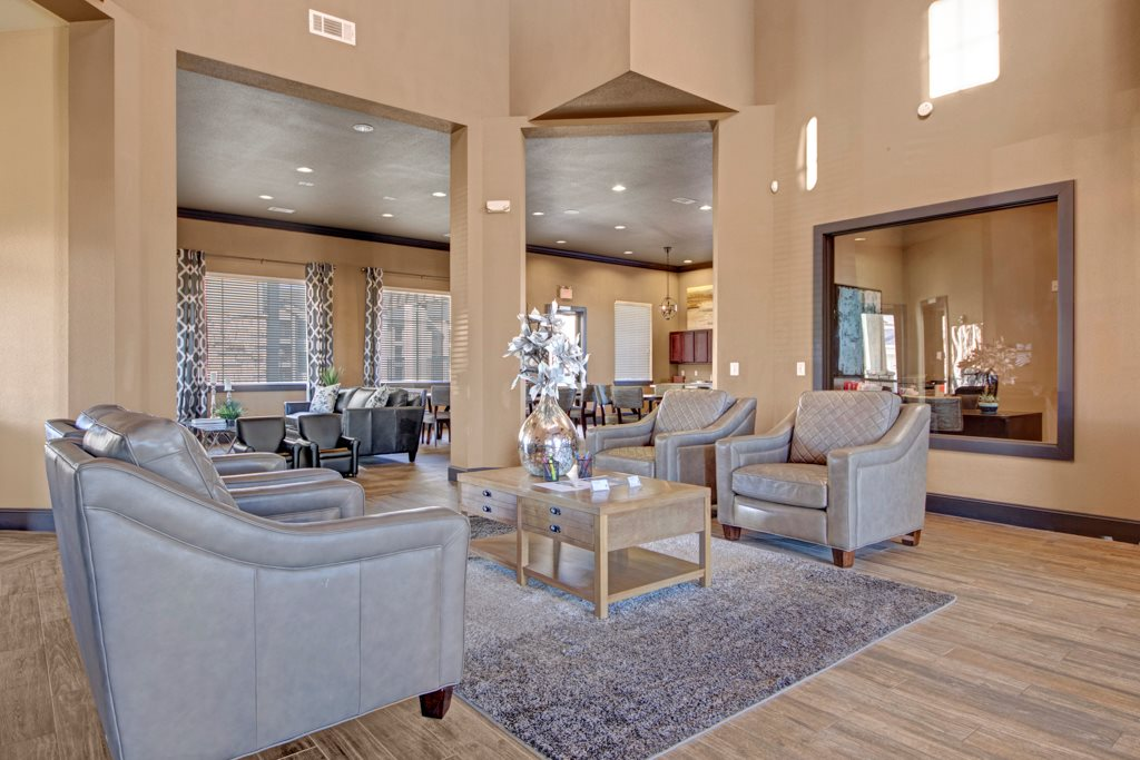 Elegant Clubhouse at The Azure Apartment Homes in Midland, Texas