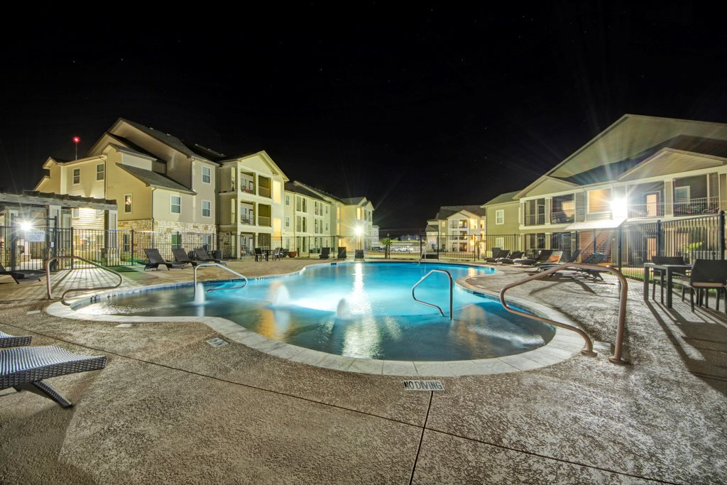 Gated Pool at The Azure Apartment Homes in Midland, Texas