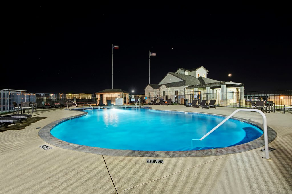 Refreshing Pool at The Azure Apartment Homes in Midland, Texas