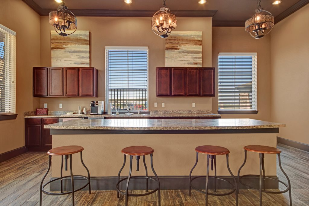 Community Kitchen at The Azure Apartment Homes in Midland, Texas