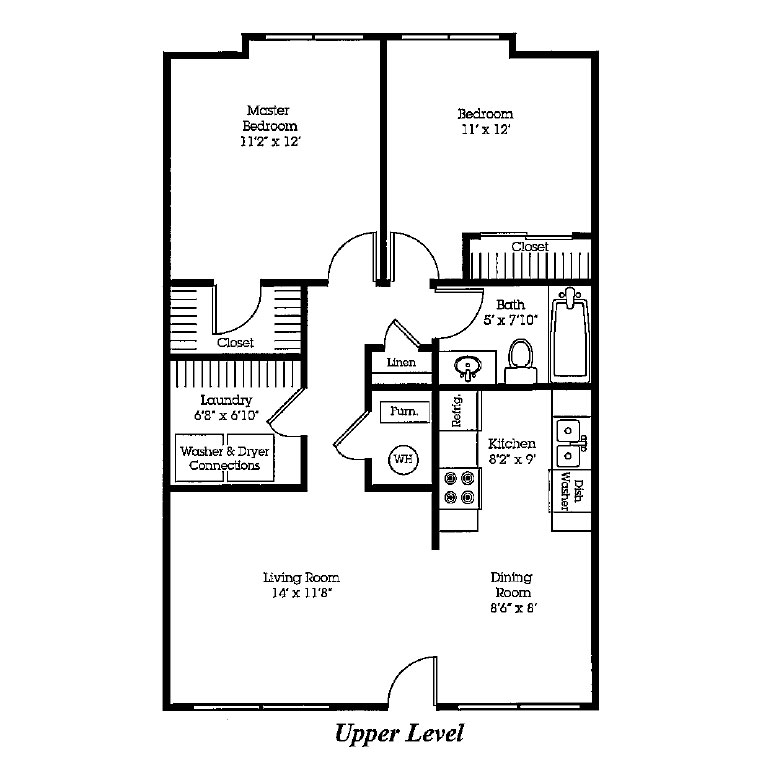 The Bluffs - Floorplan - Two Bedroom 1st Floor